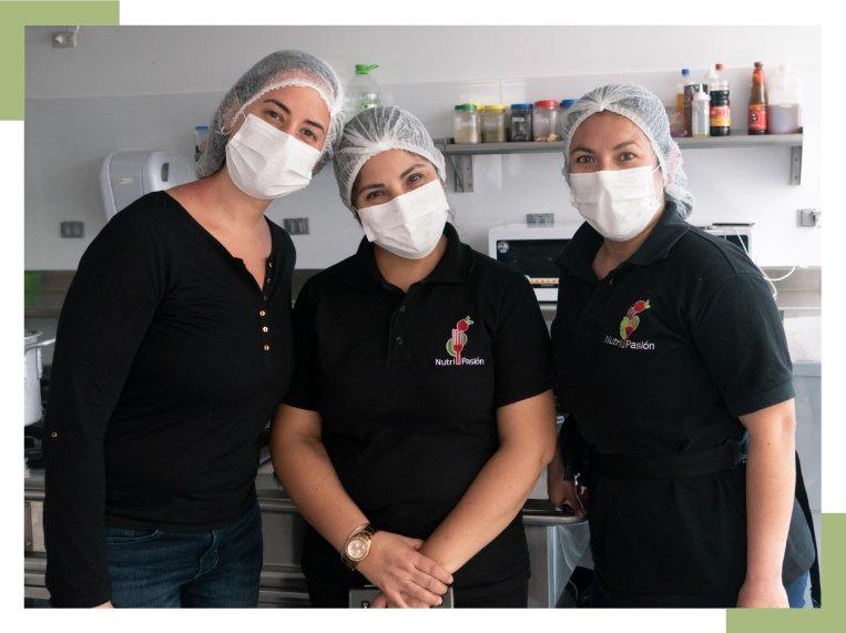 colaboradoras de Nutripasion - concesionario de alimentos