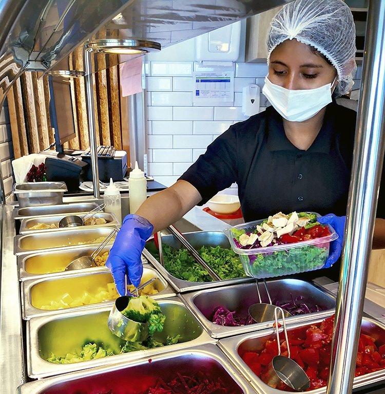 salad bar de Nutripasion - concesionario de alimentos