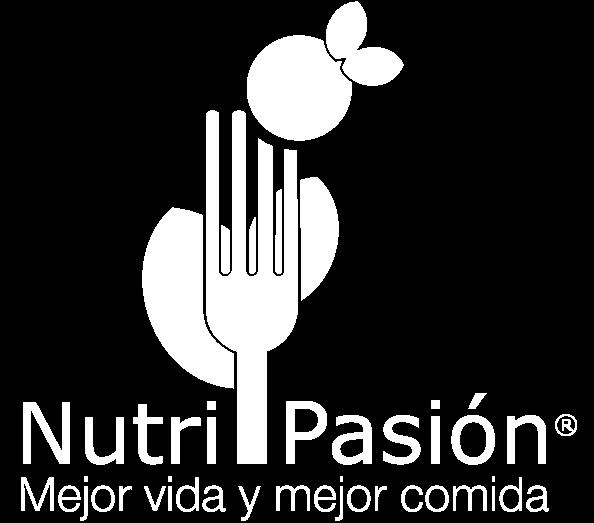 logo blanco de Nutripasion - concesionario de alimentos