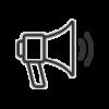 icono de megáfono de Nutripasion - concesionario de alimentos